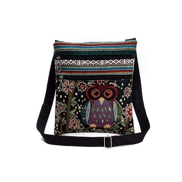 Embroidered Owl Shoulder Bag - $16 PROMO FREE SHIPPING TODAY - Pidwidgeon