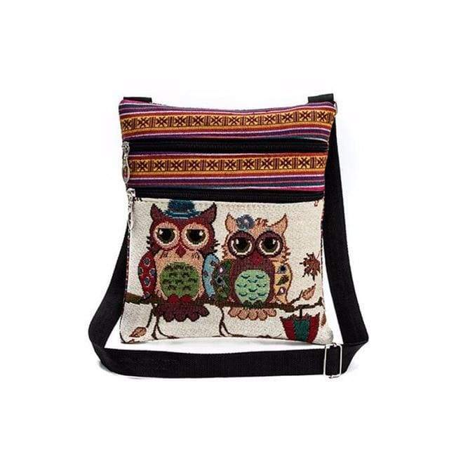Embroidered Owl Shoulder Bag - $16 PROMO FREE SHIPPING TODAY - Winky & Errol