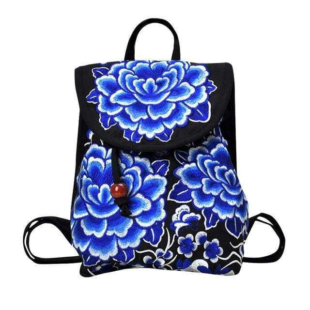 Embroidered Retro Backpack -$38 PROMO FREE SHIPPING - E / United States