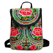 Embroidered Retro Backpack -$38 PROMO FREE SHIPPING - D / United States
