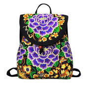 Embroidered Retro Backpack -$38 PROMO FREE SHIPPING - A / United States