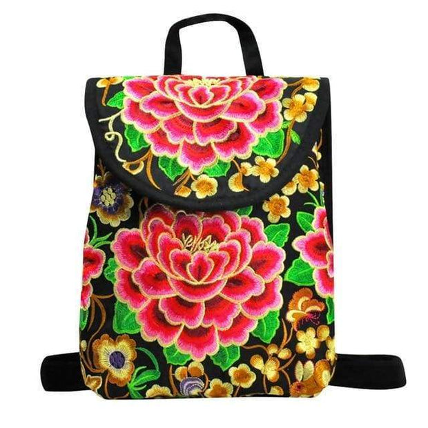 Embroidered Retro Backpack -$38 PROMO FREE SHIPPING - B / United States