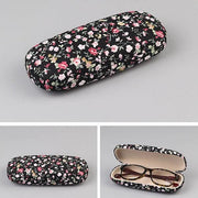 Floral Fabric Eyeglass Cases - Black