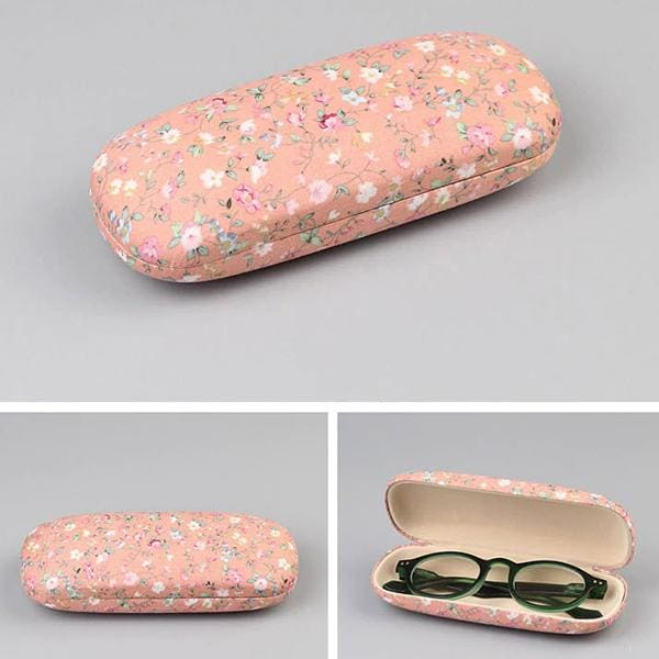 Floral Fabric Eyeglass Cases - Peach