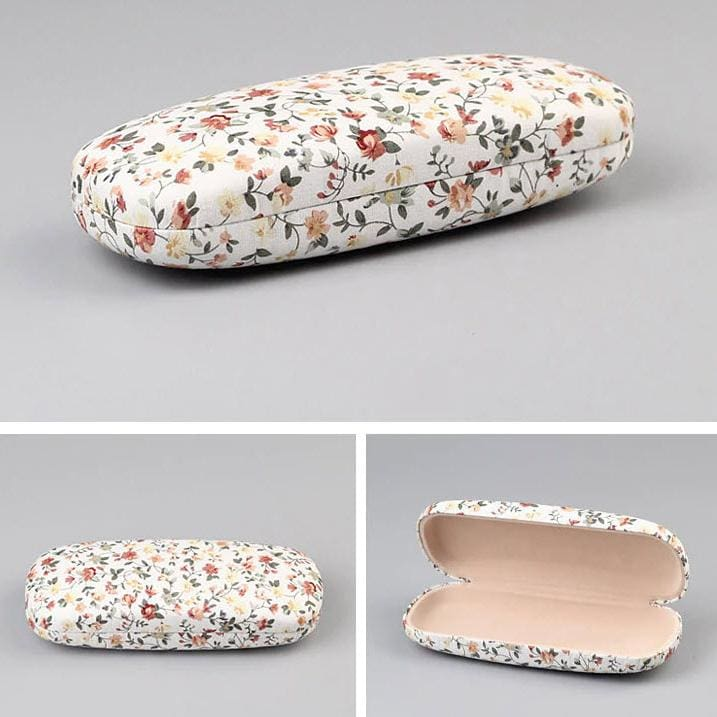 Floral Fabric Eyeglass Cases - White