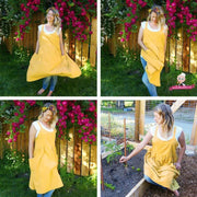 Grandmothers Old Fashioned Apron Dress - Yellow