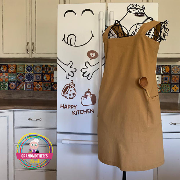 Simple Cotton Apron - Petite to Plus Sizes -$30 PROMO FREE SHIPPING