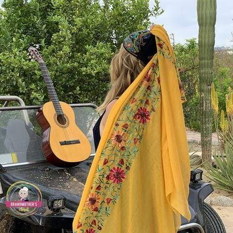 Light Embroidered Scarves - $21 PROMO FREE SHIPPING TODAY