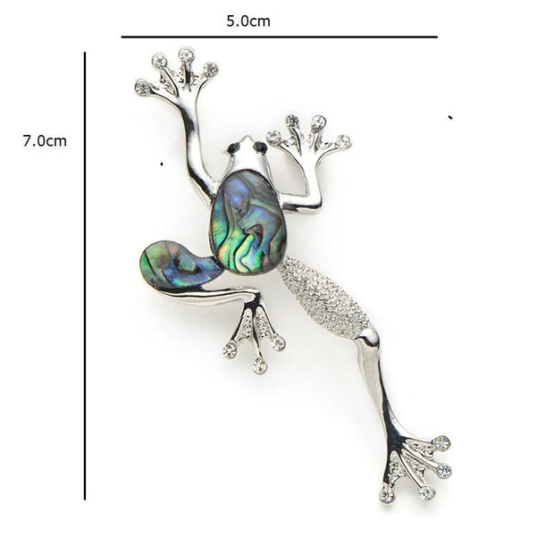 Natural Abalone Shell Frog Brooch - $19 PROMO FREE SHIPPING