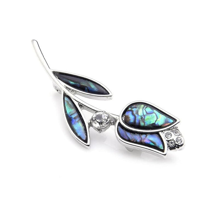 Natural Abalone Shell Tulip Brooch - $19 PROMO FREE SHIPPING