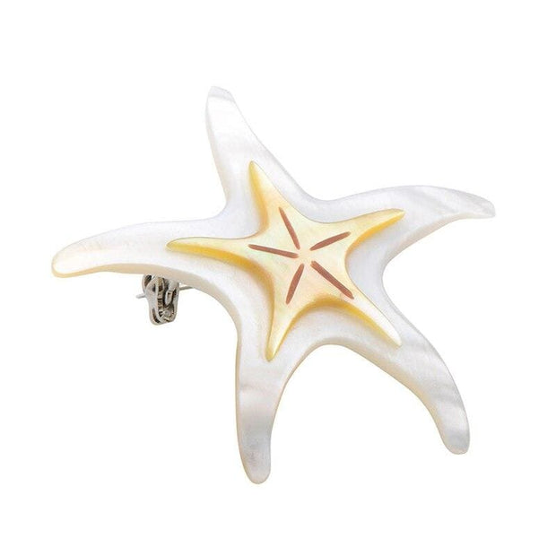 Natural Shell Starfish Brooch - $19 PROMO FREE SHIPPING