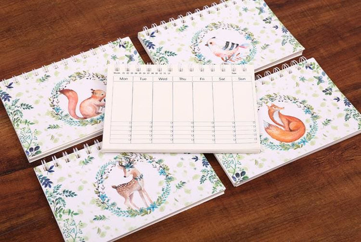 Old Fashioned Hand-Written Weekly Planner