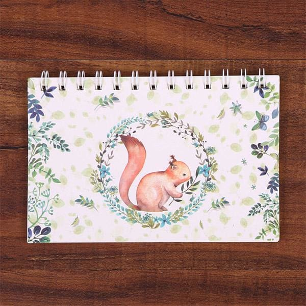 Old Fashioned Hand-Written Weekly Planner - Squirrel