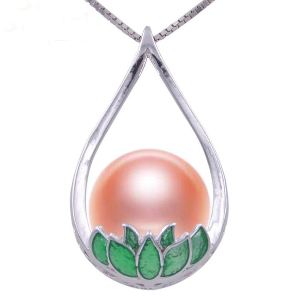 Natural Freshwater Pearl Lotus Flower Necklace - $59.99 PROMO FREE SHIPPING