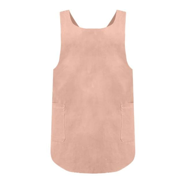 Petite Cross Back Pinafore - Peach