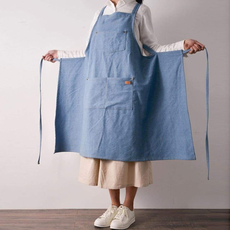 Denim Halter Apron