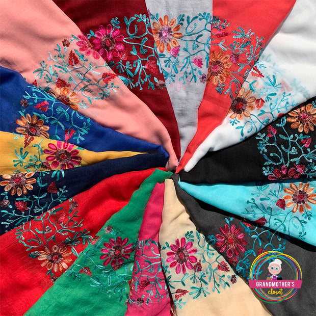 Light Embroidered Scarves - $25 PROMO FREE SHIPPING