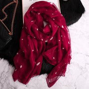 Polka Dot Silky Vintage-Style Scarves - $15 PROMO FREE SHIPPING TODAY - Red Polka Dot