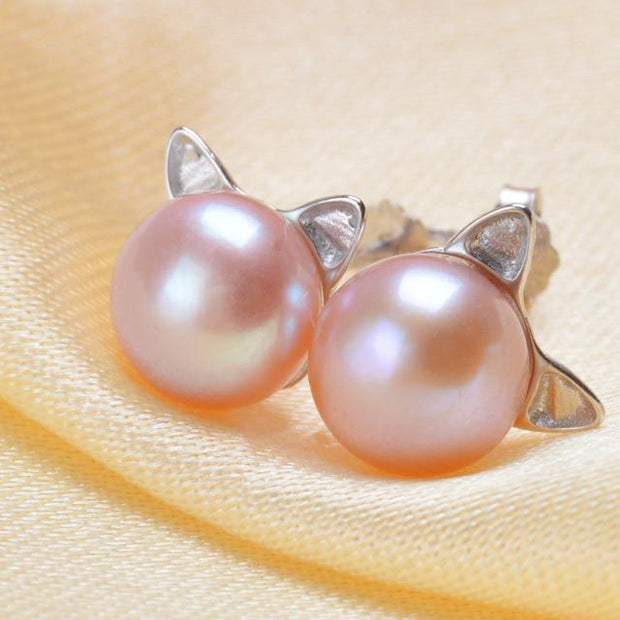 Cool Cat Stud Earrings - $39.99 PROMO FREE SHIPPING
