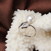 Leaf Ring With Real Natural Freshwater Pearl - $39 PROMO FREE SHIPPING