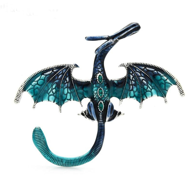 Dazzling Enamel and Rhinestone Dragon Brooches - $22.99 PROMO FREE SHIPPING