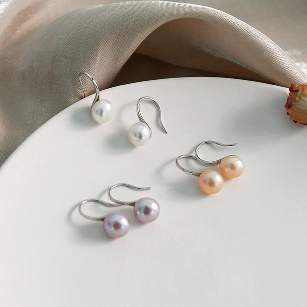 Natural Freshwater Pearl Drop Earrings - PROMO FREE SHIPPING