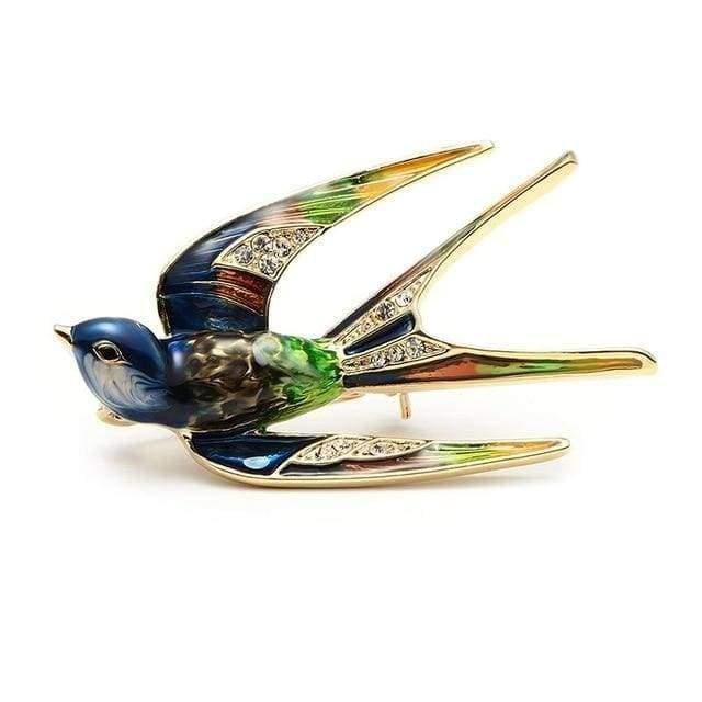 Stylish Swallow Brooch - $19 PROMO FREE SHIPPING - Mult-Colored