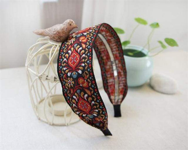 Sweet Embroidered Headbands - $12 PROMO FREE SHIPPING TODAY ONLY - Red