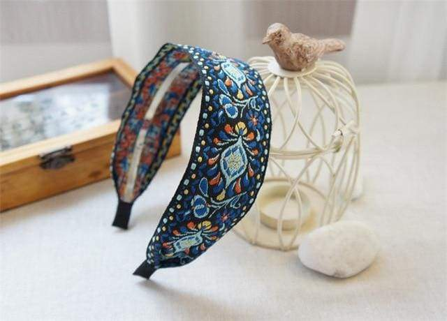 Sweet Embroidered Headbands - $12 PROMO FREE SHIPPING TODAY ONLY - Blue