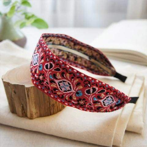 Sweet Embroidered Headbands - $16 PROMO FREE SHIPPING TODAY - Red / Fast 7-14 Business Day USA to USA Shipping
