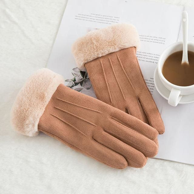 Touch Screen - Womens Warm Double Thick Plush Gloves