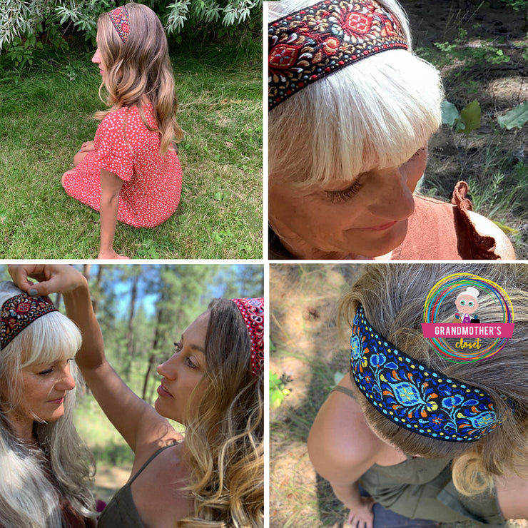 Sweet Embroidered Headbands - $19.95 or GET THE SET OF 3 for $54.00 & FREE SHIPPING
