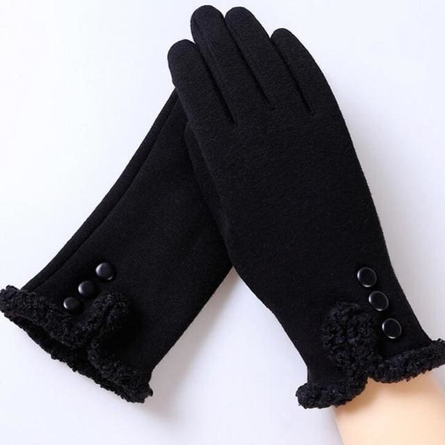 Womens Touch Screen Gloves - Classic - Black