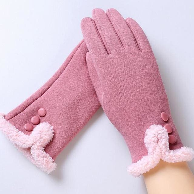 Womens Touch Screen Gloves - Classic - Pink