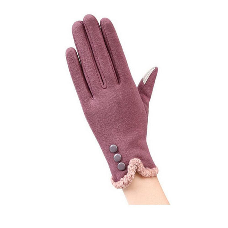 Womens Touch Screen Gloves - Classic - Purple