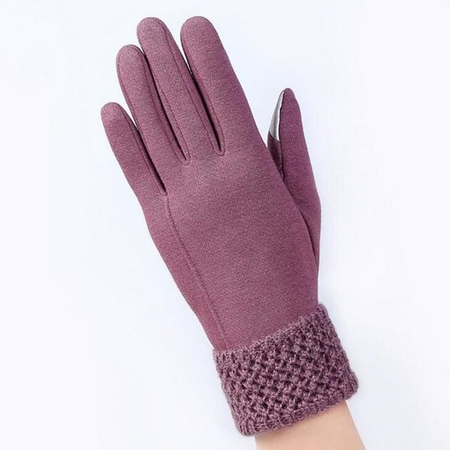 Womens Touch Screen Gloves - Cozy - Black