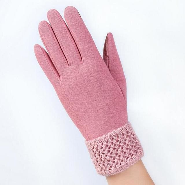 Womens Touch Screen Gloves - Cozy - Pink