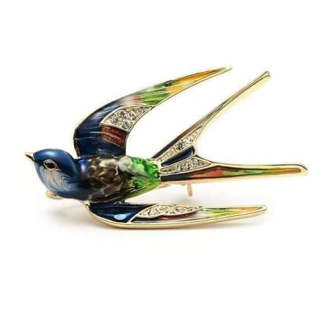 Stylish Swallow Brooch - $16 PROMO FREE SHIPPING