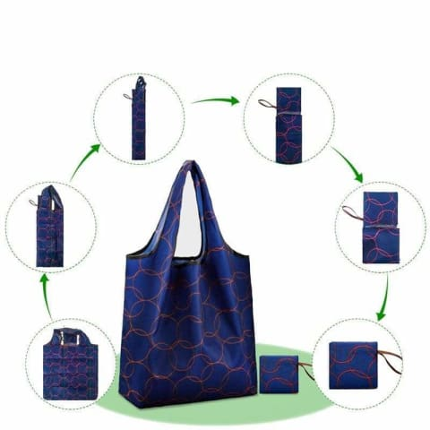 BIG STRONG Folding Reusable Shopping Bags - $9 PROMO FREE SHIPPING TODAY ONLY