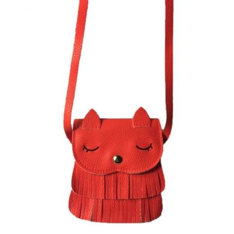 Fringed Kitty-Cat Childs Purse - $14 PROMO FREE SHIPPING TODAY