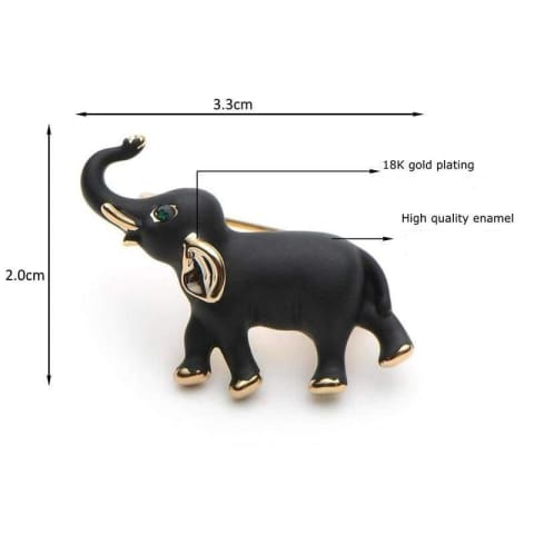 Black Elephant Brooches - $16 FREE SHIPPING PROMO