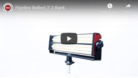 Pipeline Reflect 2' 2-Bank LED Remote Phosphor Fixture