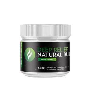 deep relief natural warming rub + hemp oil