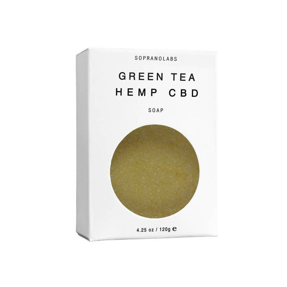 green tea hemp cbd vegan soap 50 mg