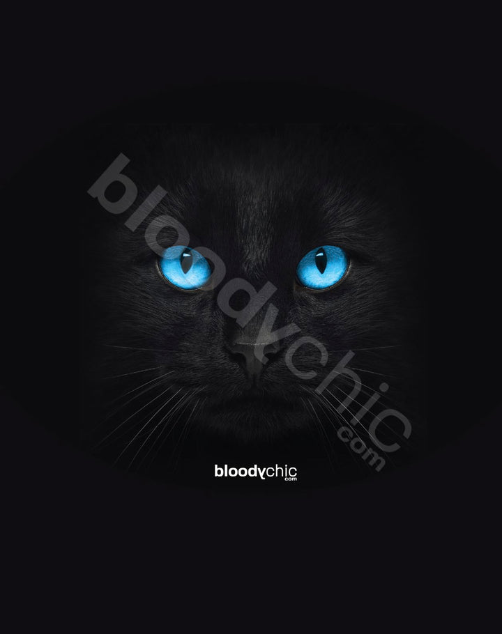 Cat Blue Eyes_Black