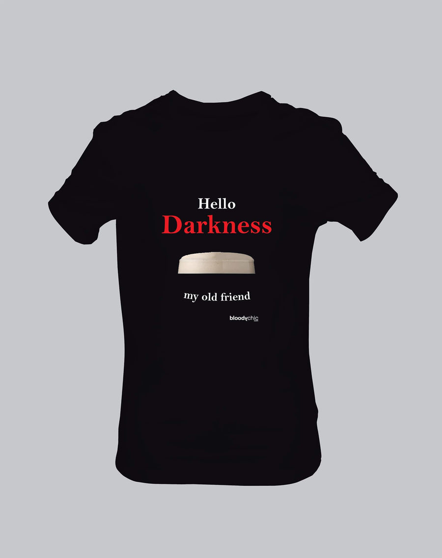 Hello Darkness Alcohol Booze Pint Simon T-shirt