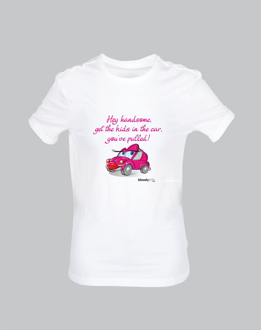 Handsome Car Pull Kids Funny T-shirt