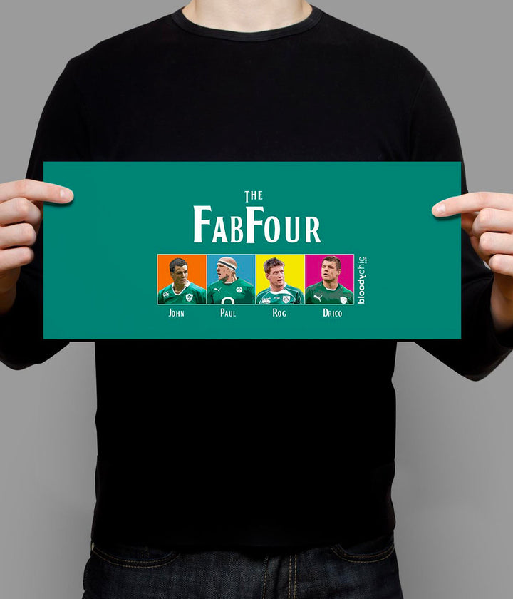 The Fab Four_Green_Landscape Poster