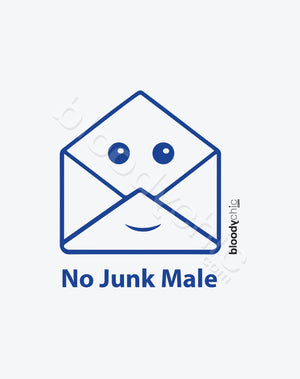 No Junk Male Text_Blue