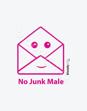 No Junk Male Text_Pink